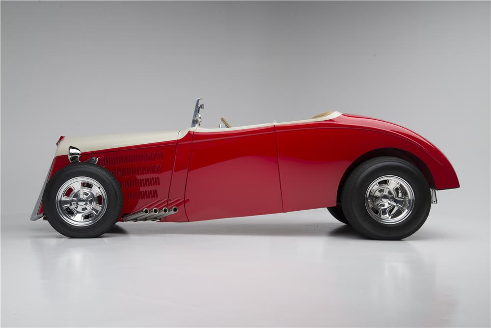 1933 WILLYS CUSTOM HI-BOY ROADSTER - Side Profile - 154033