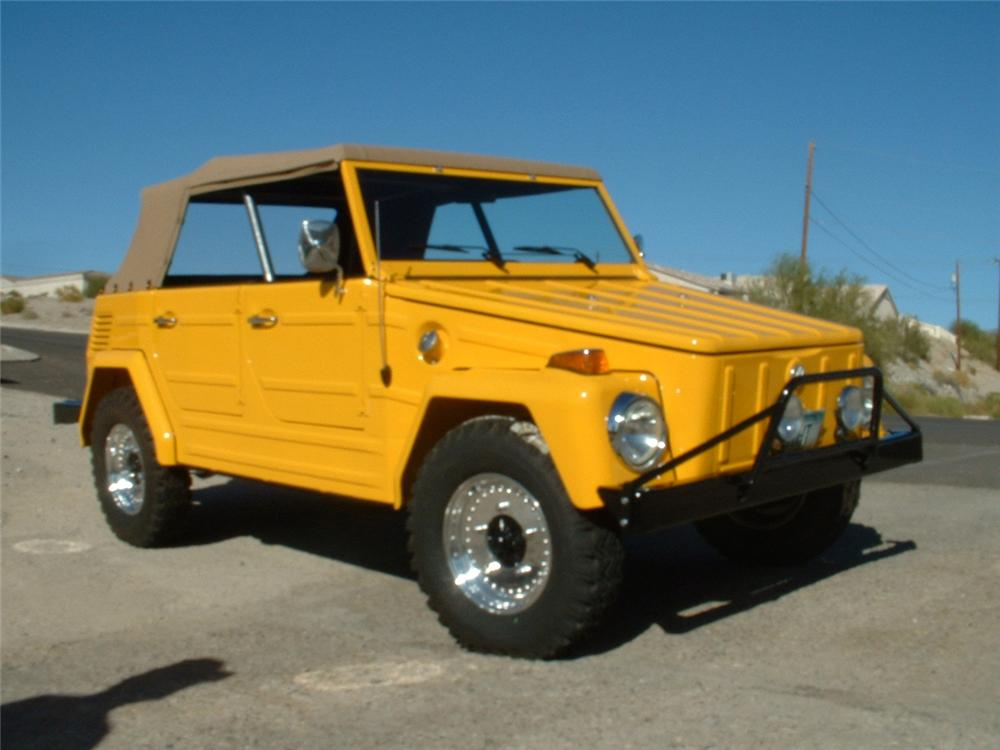 1973 VOLKSWAGEN THING CONVERTIBLE - Front 3/4 - 154052
