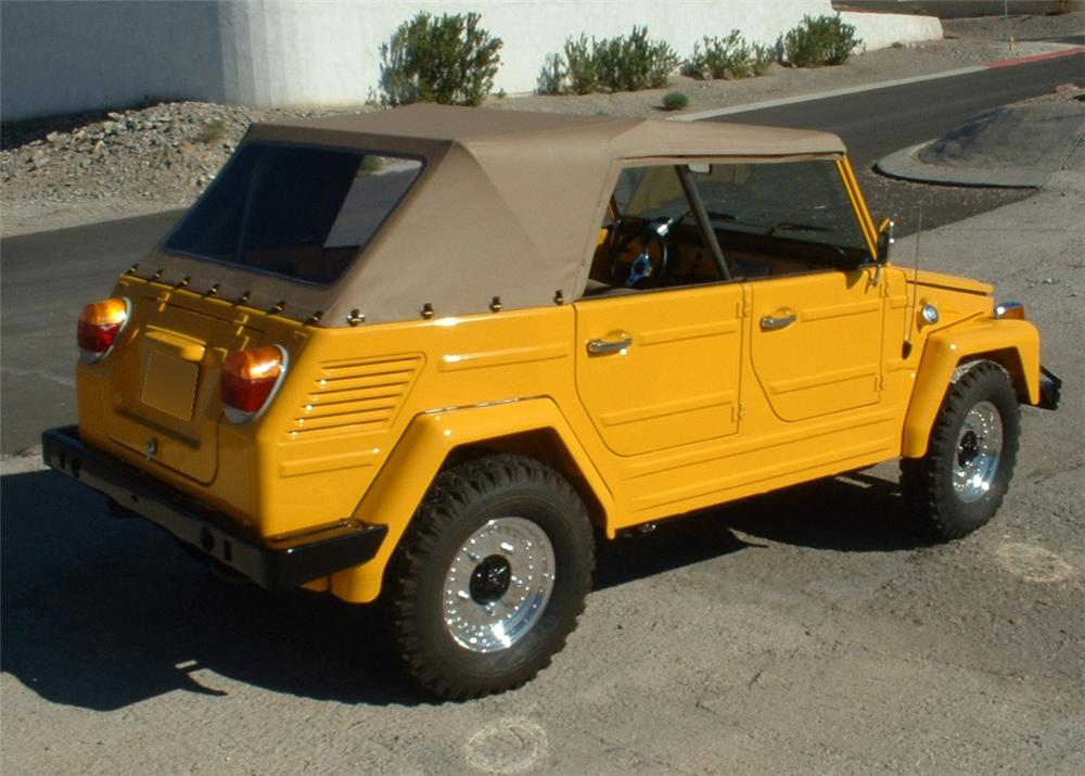 1973 VOLKSWAGEN THING CONVERTIBLE - Rear 3/4 - 154052