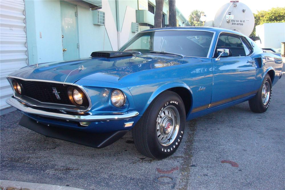 1969 FORD MUSTANG GT 428 SCJ FASTBACK - Front 3/4 - 154055