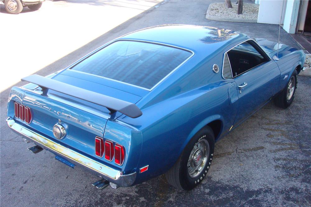 1969 FORD MUSTANG GT 428 SCJ FASTBACK - Rear 3/4 - 154055