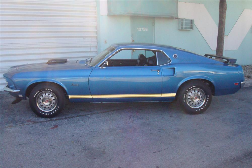 1969 FORD MUSTANG GT 428 SCJ FASTBACK - Side Profile - 154055