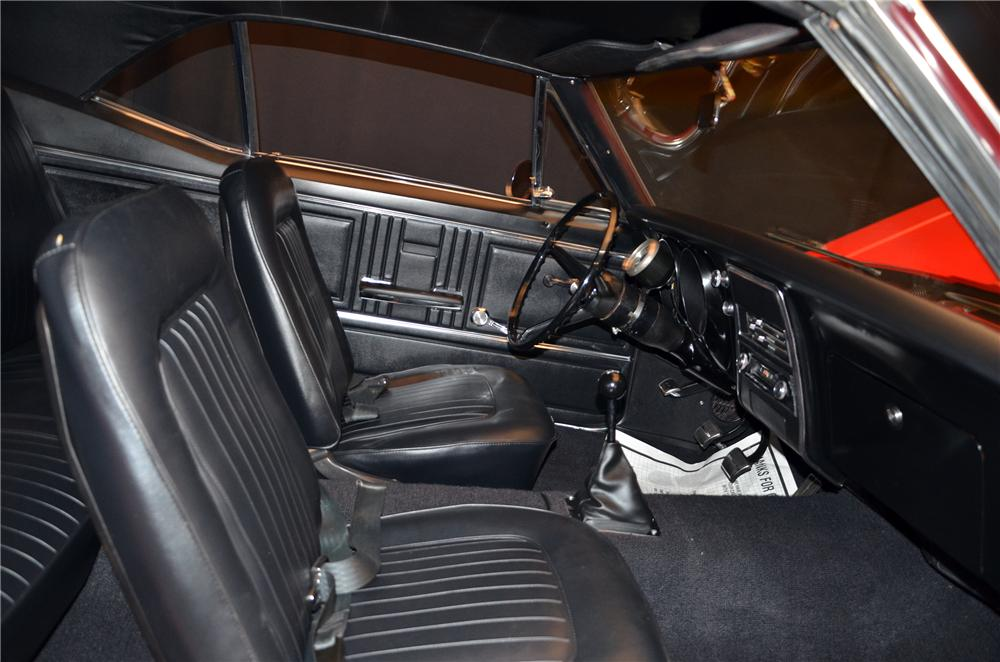 1967 CHEVROLET CAMARO CUSTOM 2 DOOR COUPE - Interior - 154060