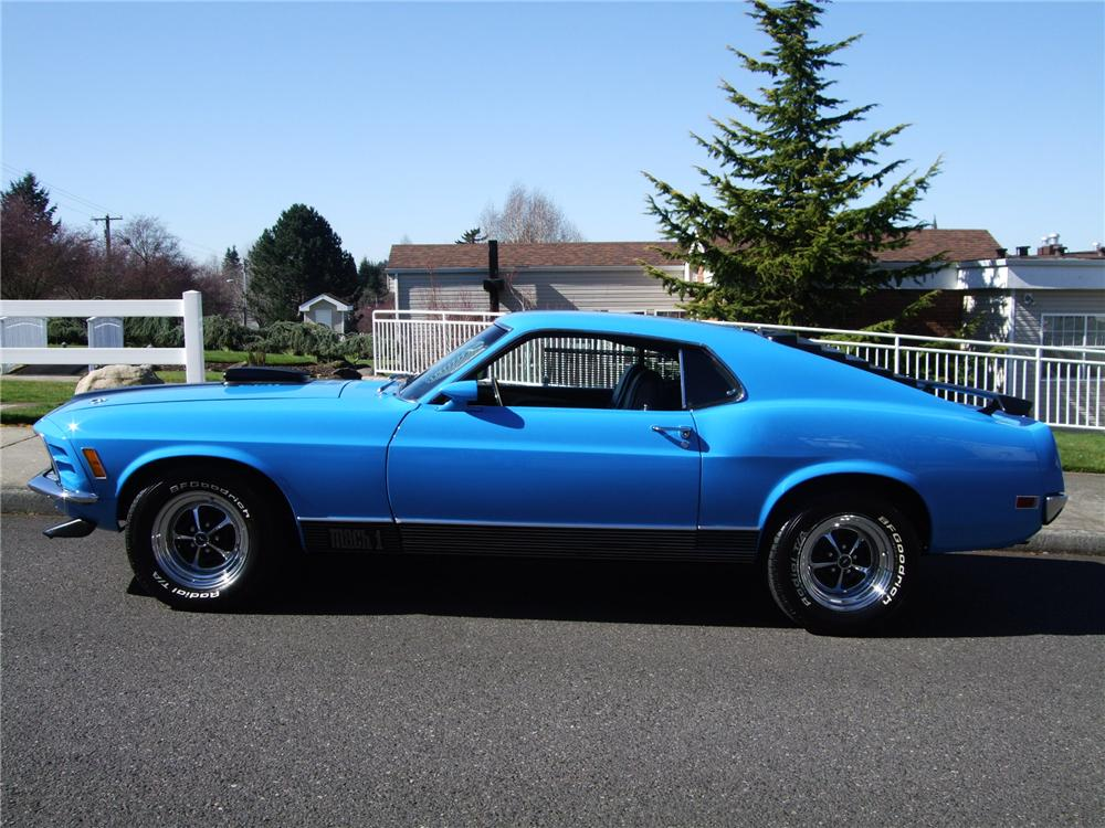 1970 FORD MUSTANG MACH 1 FASTBACK - Side Profile - 154065