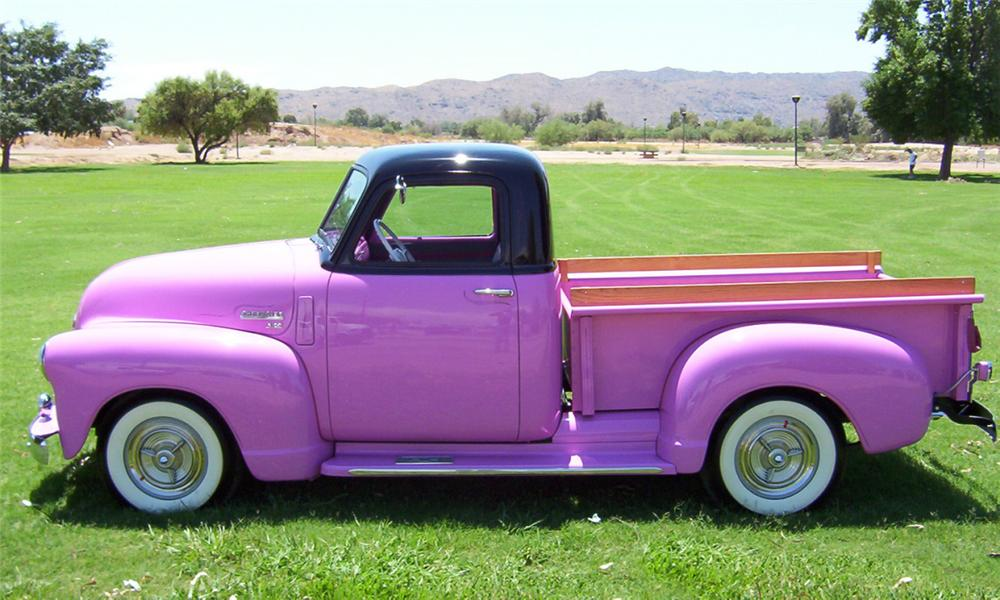 1950 CHEVROLET 3100 PICKUP - Side Profile - 15407