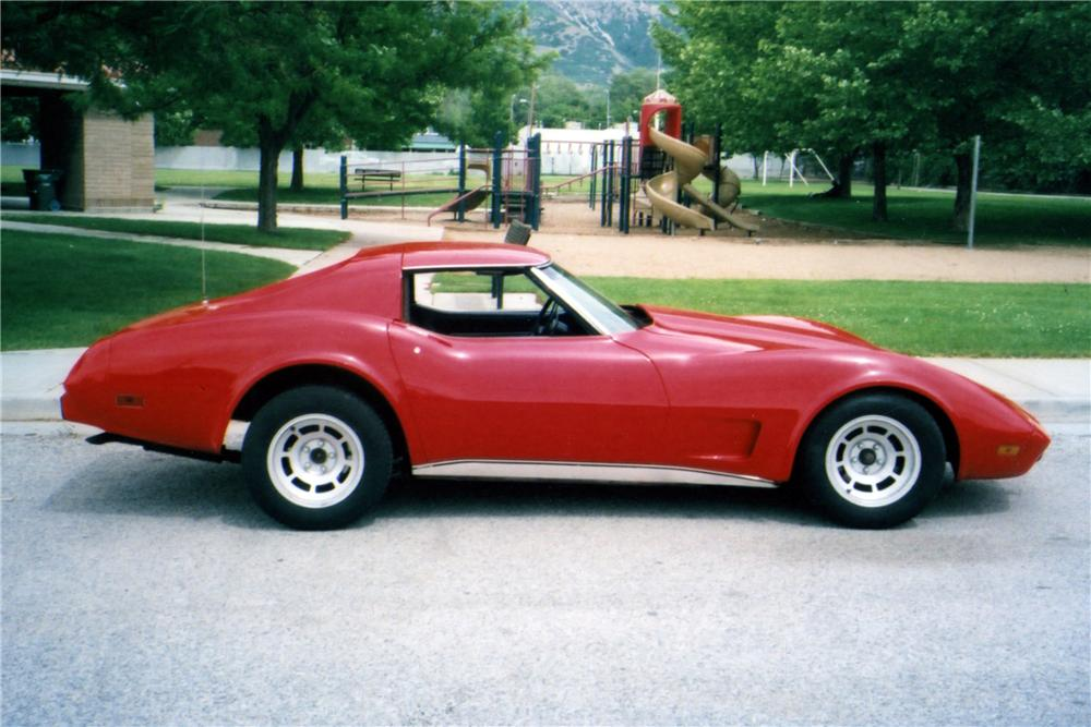 1977 CHEVROLET CORVETTE 2 DOOR COUPE - Side Profile - 154070