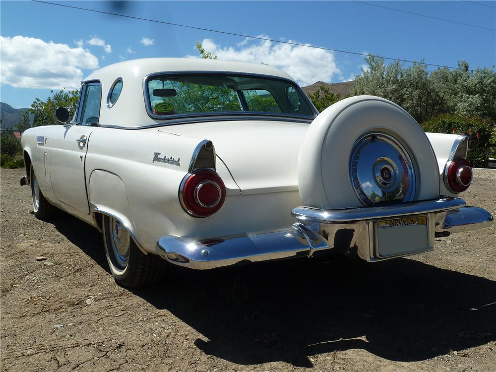 1956 FORD THUNDERBIRD CONVERTIBLE - Rear 3/4 - 154094