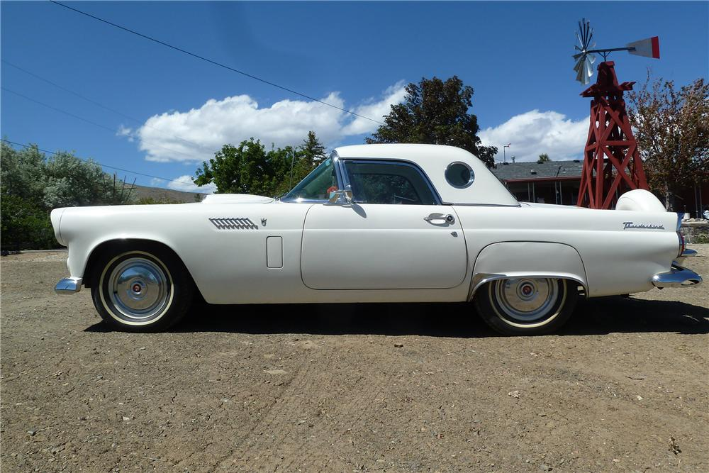 1956 FORD THUNDERBIRD CONVERTIBLE - Side Profile - 154094