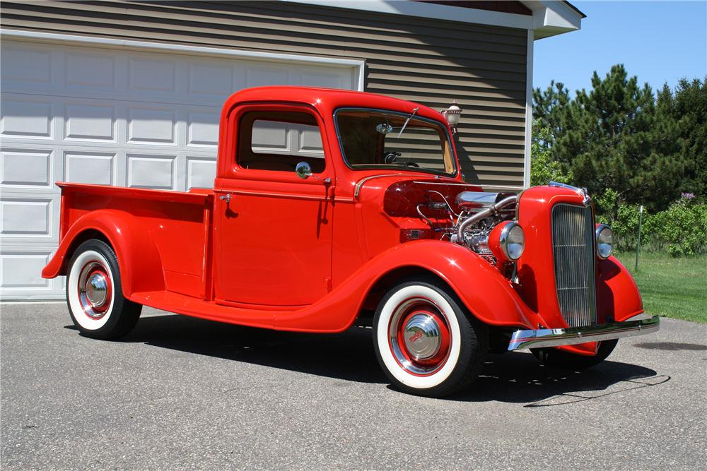 1936 FORD CUSTOM PICKUP - Front 3/4 - 154100