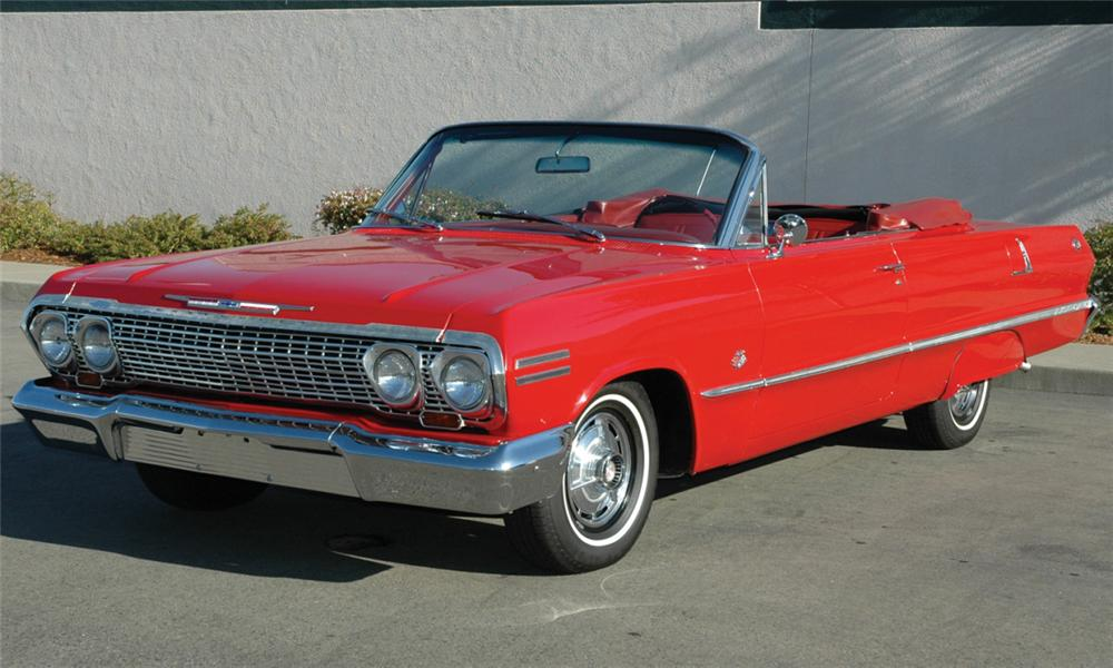 1963 CHEVROLET IMPALA SS CONVERTIBLE - Front 3/4 - 15411