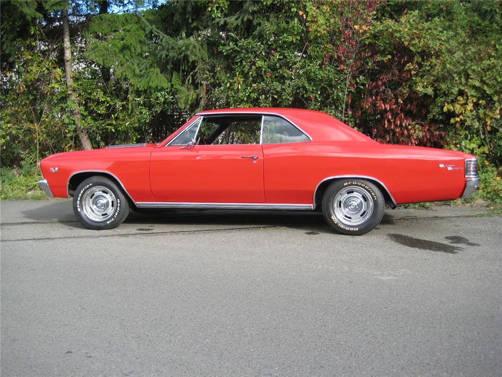 1967 CHEVROLET CHEVELLE 2 DOOR COUPE - Side Profile - 154116