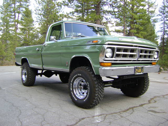1971 FORD F-250 4X4 PICKUP - Front 3/4 - 154124