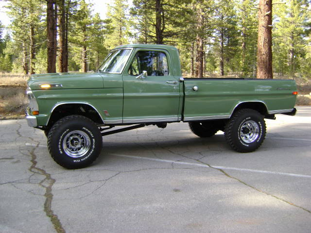 1971 FORD F-250 4X4 PICKUP - Side Profile - 154124