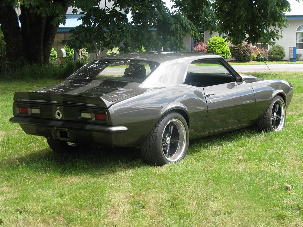 1968 CHEVROLET CAMARO CUSTOM 2 DOOR COUPE - Rear 3/4 - 154148