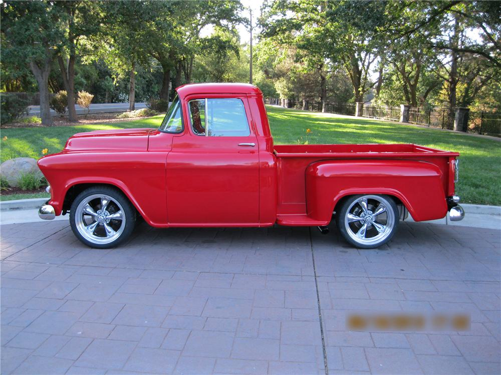 1957 CHEVROLET 3100 CUSTOM PICKUP - Side Profile - 154158