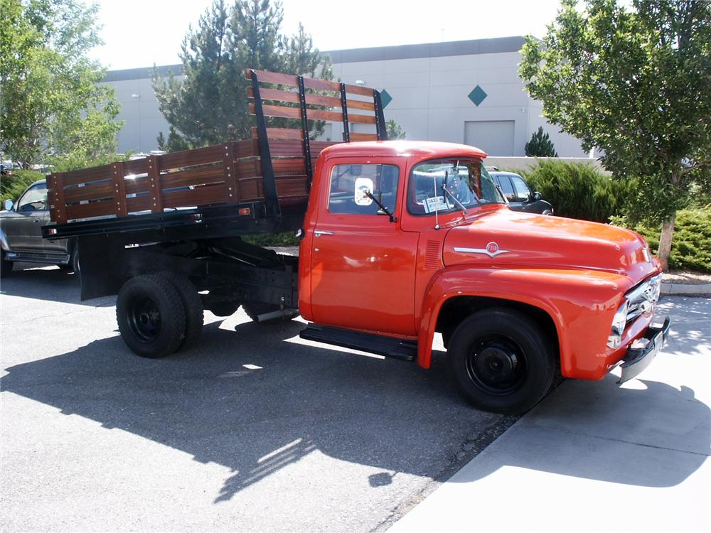 1956 FORD F-350 DUMP TRUCK - Front 3/4 - 154160