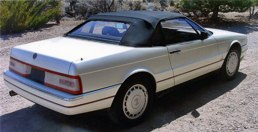 1990 CADILLAC ALLANTE CONVERTIBLE - Rear 3/4 - 154172