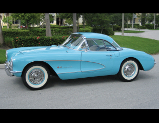 1957 CHEVROLET CORVETTE FUEL INJECTED CONVERTIBLE -  - 15418