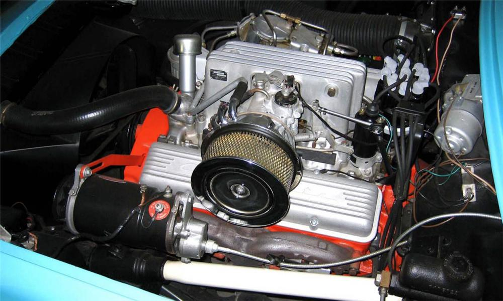1957 CHEVROLET CORVETTE FUEL INJECTED CONVERTIBLE - Engine - 15418