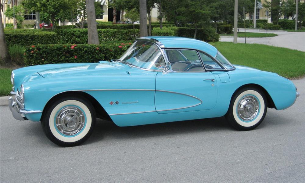 1957 CHEVROLET CORVETTE FUEL INJECTED CONVERTIBLE - Front 3/4 - 15418