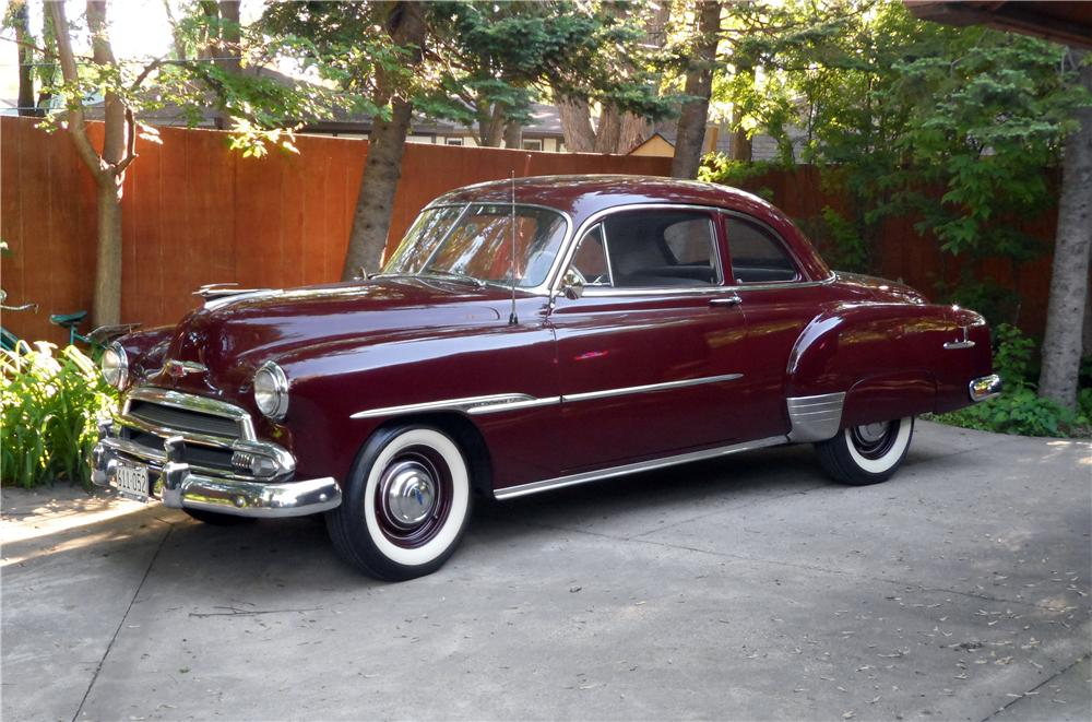 1951 chevrolet deluxe 2 door coupe 154216