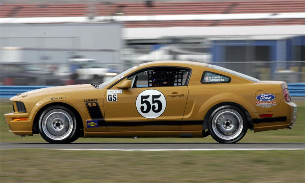 2005 FORD MUSTANG FR500C #55 RACE CAR - Side Profile - 15423