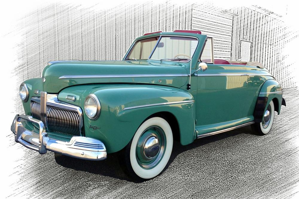 1942 FORD SUPER DELUXE CONVERTIBLE - Front 3/4 - 154245
