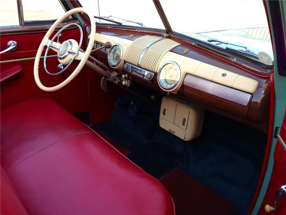 1942 FORD SUPER DELUXE CONVERTIBLE - Interior - 154245