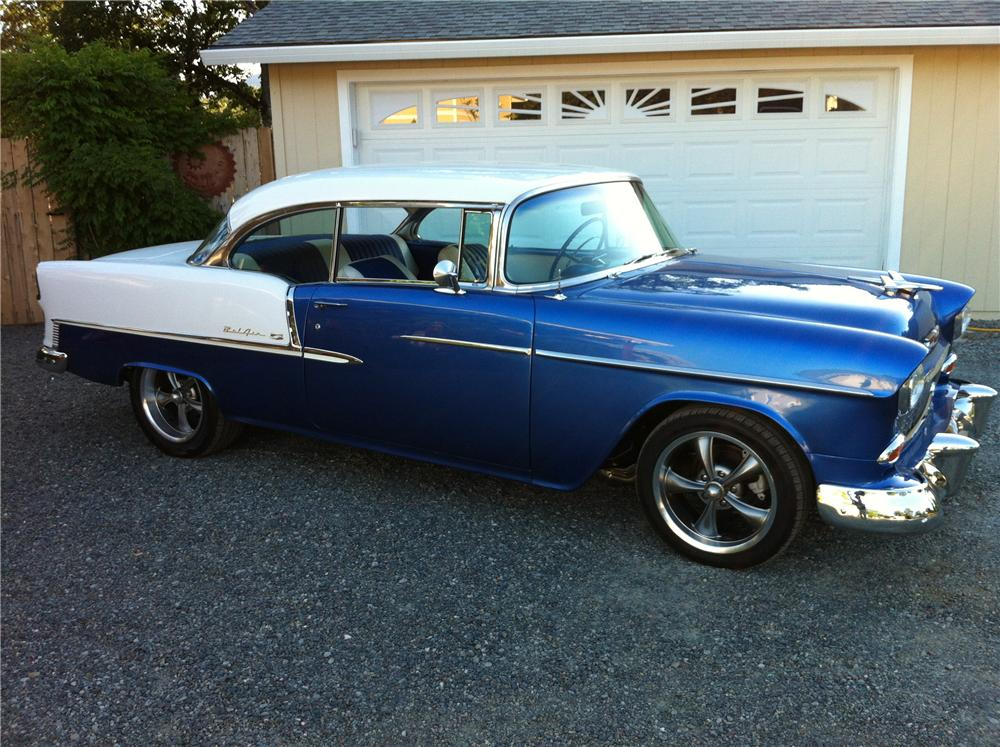 1955 chevrolet bel air custom 2 door hardtop 154256 for 1955 chevy two door