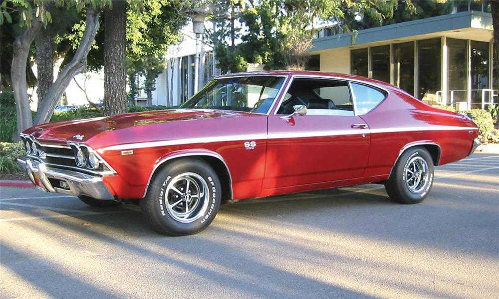 1969 CHEVROLET CHEVELLE COUPE - Front 3/4 - 15426