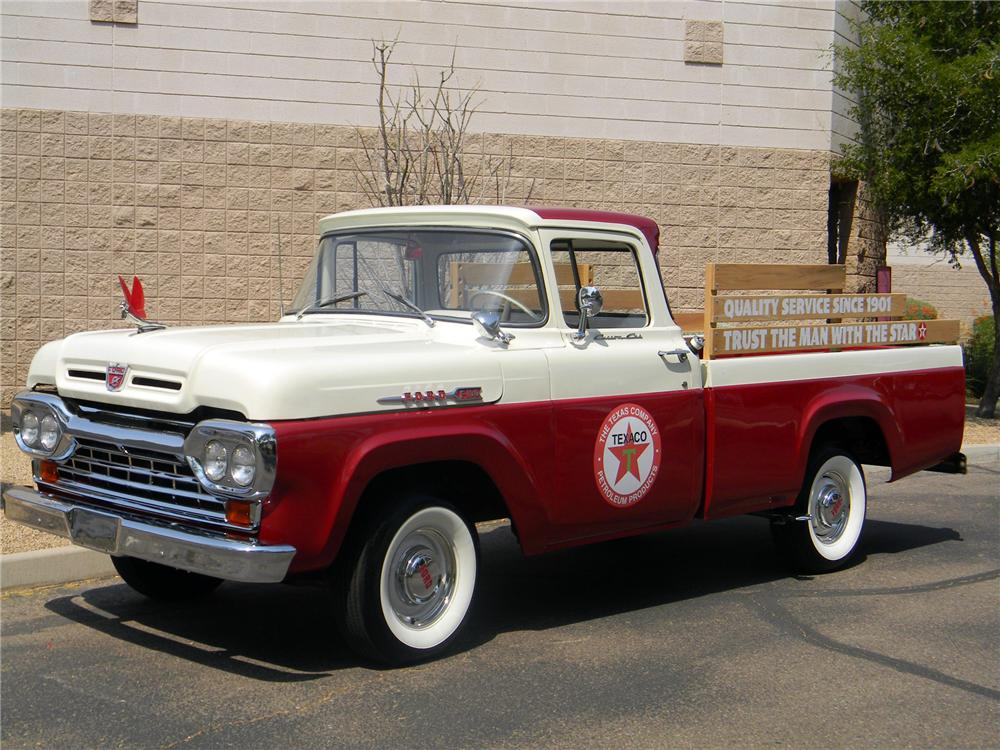 1960 FORD F-100 PICKUP - Side Profile - 154271