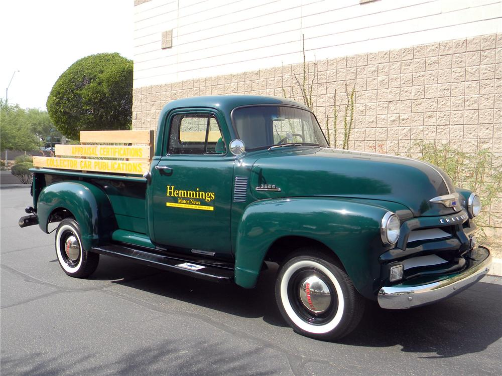 Sold at reno tahoe 2013 lot 454 1954 chevrolet 3100 pickup 1954 chevrolet 3100 pickup front 34 154274 publicscrutiny Gallery