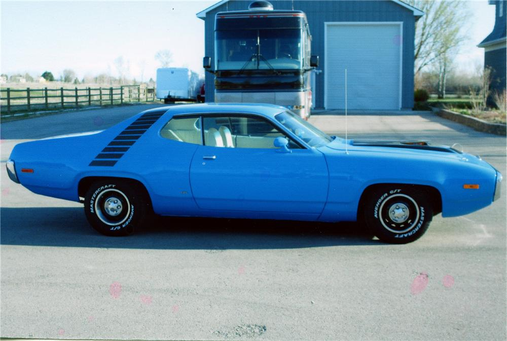 1972 PLYMOUTH ROAD RUNNER CUSTOM 2 DOOR HARDTOP - Side Profile - 154295