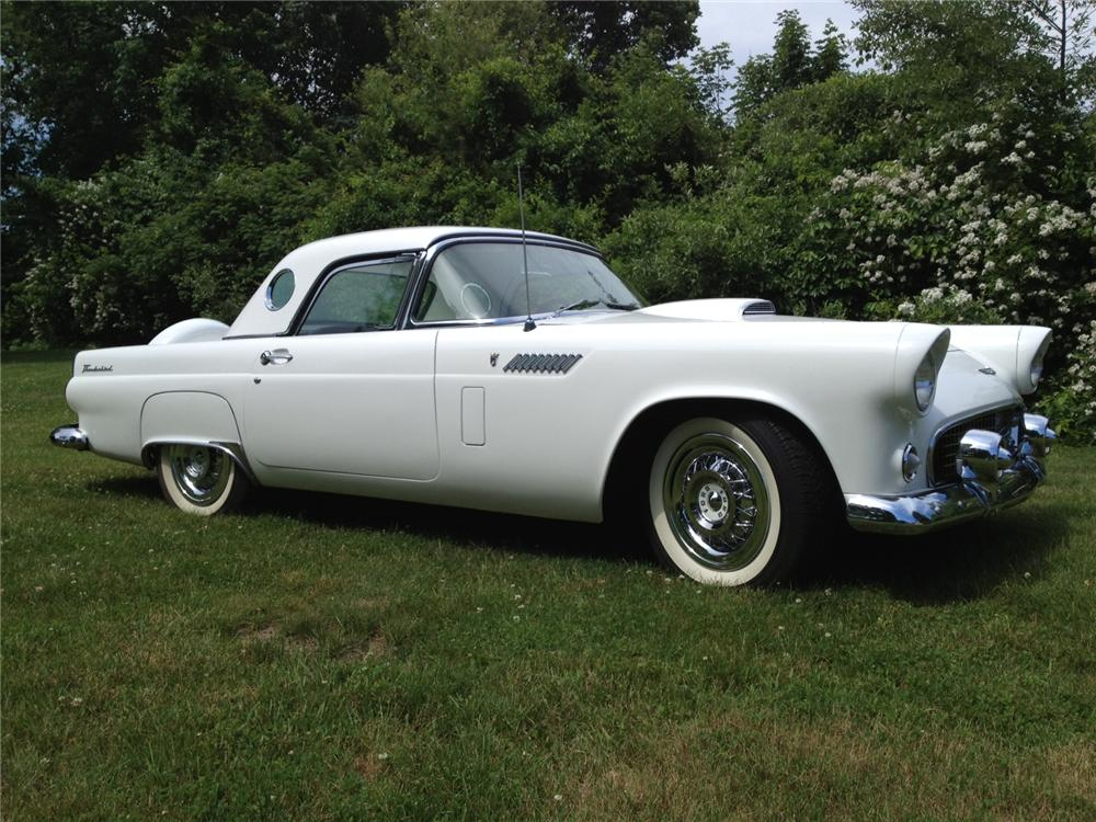 1956 FORD THUNDERBIRD CONVERTIBLE - Side Profile - 154340