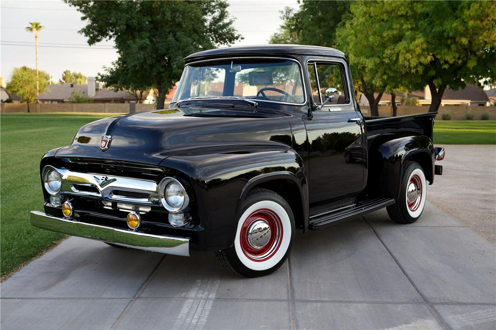 1956 FORD F-100 CUSTOM PICKUP - Front 3/4 - 154350