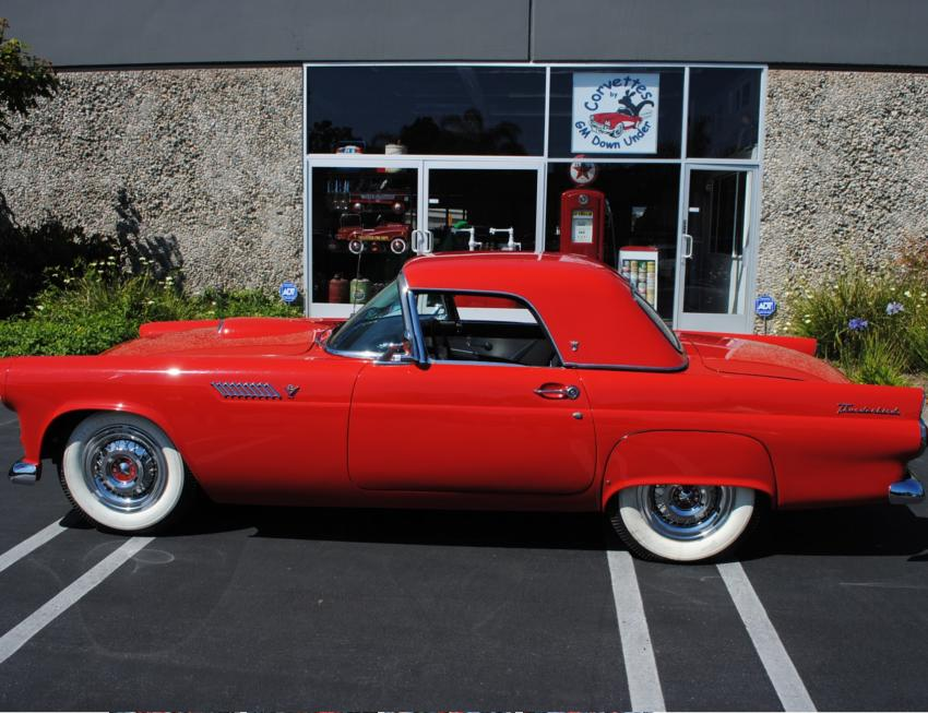 1955 FORD THUNDERBIRD CONVERTIBLE - Side Profile - 154354