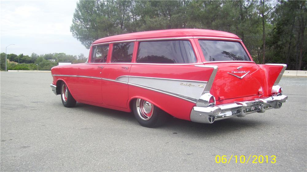 1957 chevrolet 210 custom 4 door station wagon 154443 for 1957 chevrolet 4 door