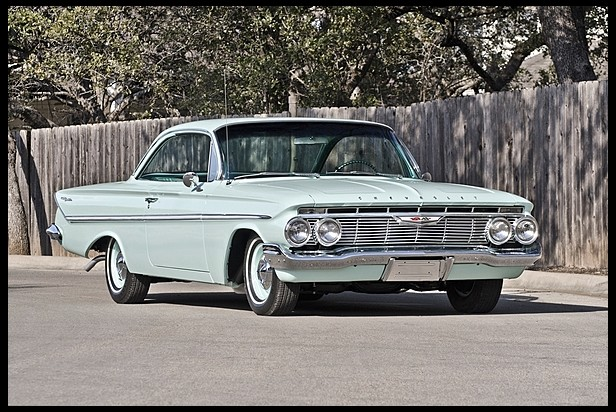 1961 CHEVROLET BEL AIR 2 DOOR COUPE - Front 3/4 - 154464