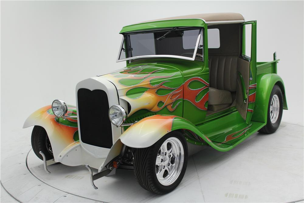 1930 FORD MODEL A CUSTOM PICKUP - Front 3/4 - 154467
