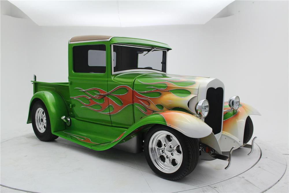 1930 FORD MODEL A CUSTOM PICKUP - Side Profile - 154467