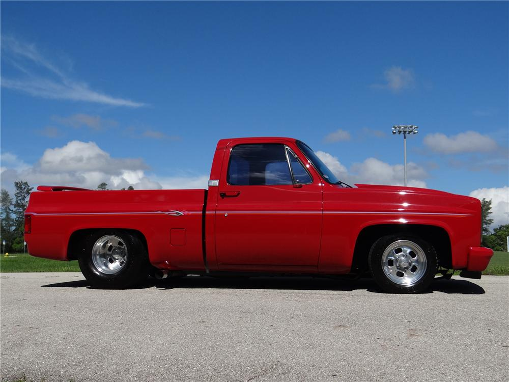 1986 CHEVROLET C-10 CUSTOM PICKUP - Side Profile - 154477