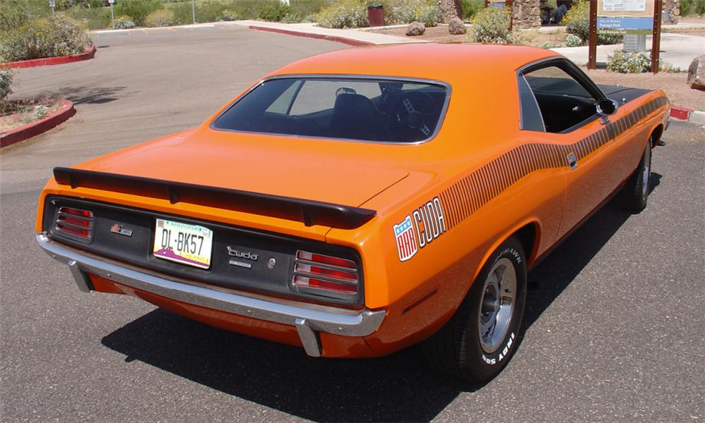 1970 PLYMOUTH BARRACUDA HARDTOP CLONE - Rear 3/4 - 15459