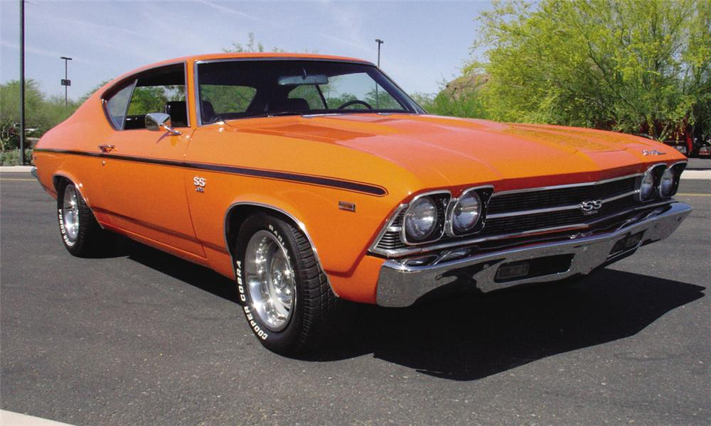 1969 CHEVROLET CHEVELLE SS 396 COUPE - Front 3/4 - 15460
