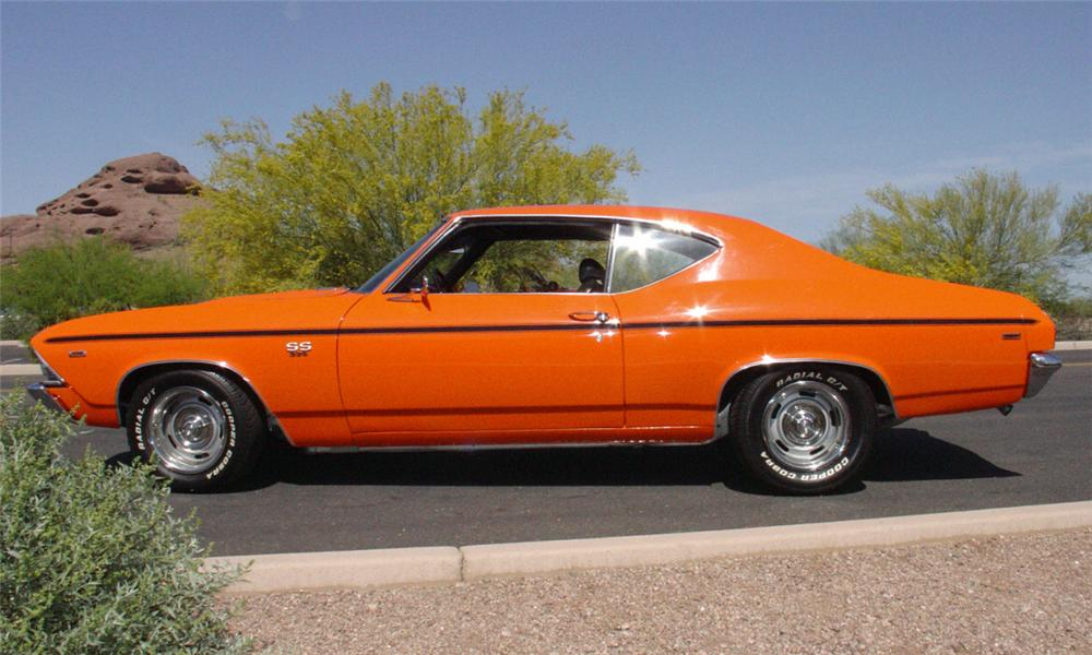 1969 CHEVROLET CHEVELLE SS 396 COUPE - Side Profile - 15460