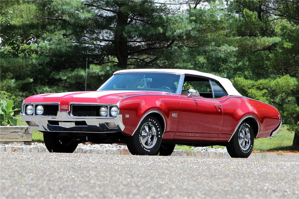 1969 OLDSMOBILE 442 CONVERTIBLE - Front 3/4 - 154785