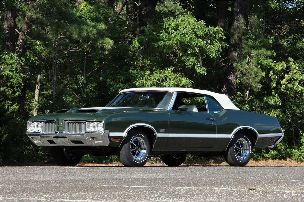 1970 OLDSMOBILE 442 CONVERTIBLE - Front 3/4 - 154788