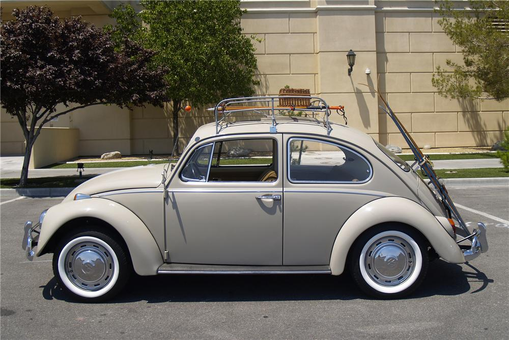 1967 VOLKSWAGEN BEETLE 2 DOOR SEDAN - Side Profile - 154792