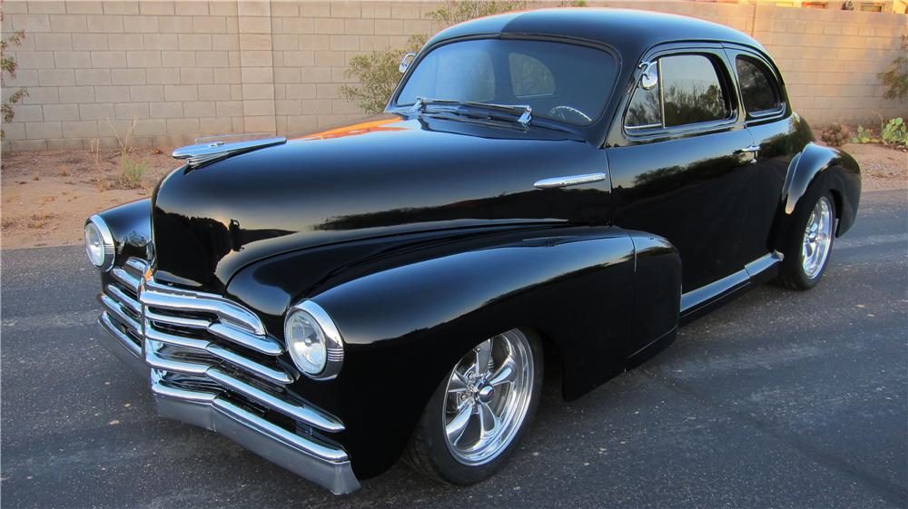 1946 CHEVROLET 5 WINDOW CUSTOM 2 DOOR COUPE - 154805