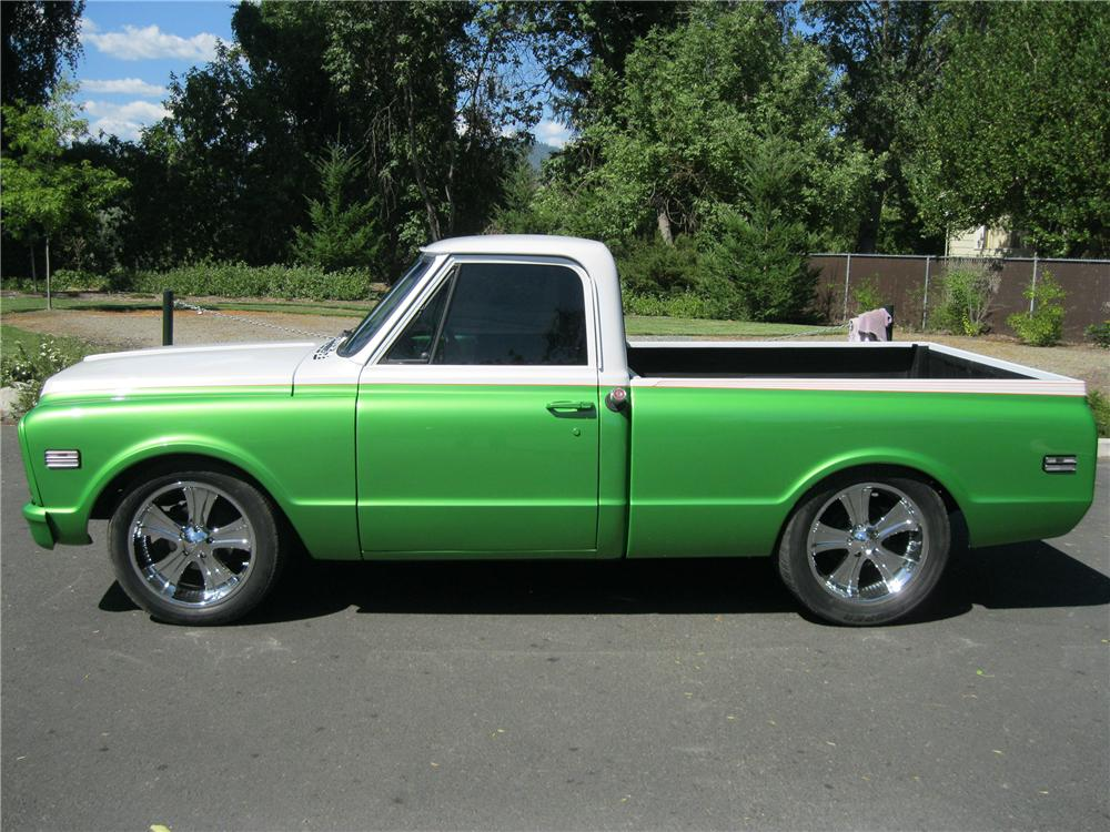 1971 GMC 1/2 TON CUSTOM PICKUP - Side Profile - 154813