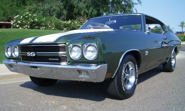 1970 CHEVROLET CHEVELLE SS 396 COUPE - Front 3/4 - 15488